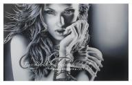 monochromo parziale, airbrush on paper. - Airbrush Artwoks