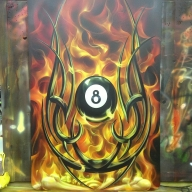 skull true fire - Airbrush Artwoks