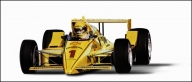 A single Pennzoil racing car this time. As these Pennzoil illustrations were used for different advertising formats I was asked to leave the backgrounds plain white. - Airbrush Artwoks