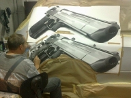 BMW E70 X5 Gets a .50 Desert Eagle Airbrushed on Its Side - Airbrush Step by Step