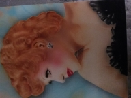 Lucy Ball airbrushed on 8x10 carson board - Favorite Art