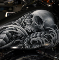 Awesome Skull - Kustom Airbrush