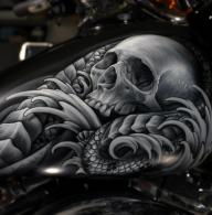 Awesome Skull - Kustom Airbrush