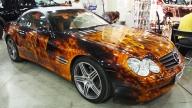 Mercedes in Flame! - Kustom Airbrush