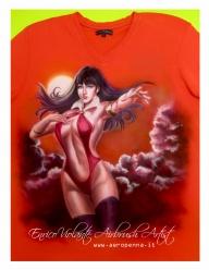 Tshirt Vampirella - Airbrush Artwoks