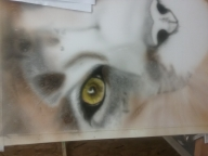 first layer of color being added - Airbrush Step by Step