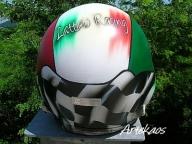 Rally helmet - ArteKaos Airbrush - ArteKaos Airbrush