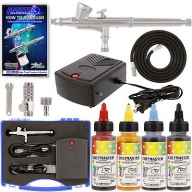 Complete CAKE DECORATING G34 AIRBRUSH SYSTEM KIT w-Food Color Set, Compressor - AirbrushDeals
