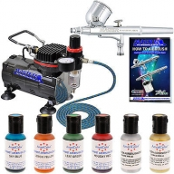 MASTER #AIRBRUSH #CAKE DECORATING KIT Air Compressor 6 Color Food Coloring Set - Airbrush Deals