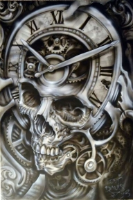 Bad Ass Skull Airbrush Style - Favorite Art