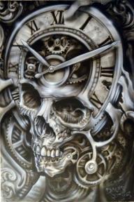 Bad Ass Skull Airbrush Style - Favorite Art