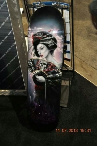 Geisha on Snowboard - Favorite Art