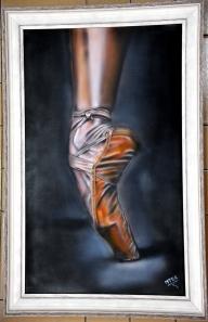 Ballerina Airbrush on canvas. - Airbrush Artwoks