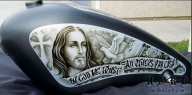 Awesome! Another cool airbrush artwork by Mr. Fonzie - Top Airbrush Artwork on the Web