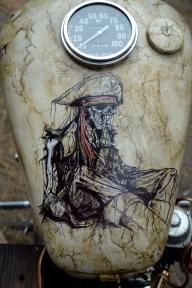 Mixed media airbrush on tank - Favorite Art