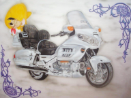 Goldwing airbrush - vehicles