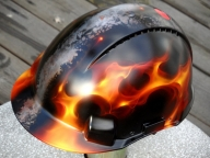 True Fire Helmet 1/4 001 by GhostDesign - Kustom Airbrush