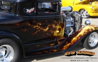 True Fire on awesome Hot Rod - Kustom Airbrush