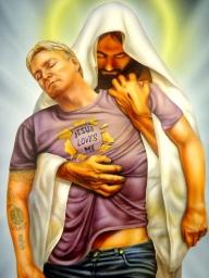 Jesus love me - Illustration Airbrush custom paint - Favorite Art