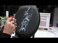 Airbrush Tutorial Videoanleitung Step by Step WC-Sitz / Toilet Seat Musik Note Design - Via YouTube - Airbrush Videos