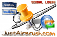 Login attraverso Facebook o Twitter - JustAirbrush FAQ