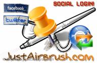 Login attraverso Facebook o Twitter - JustAirbrush FAQ