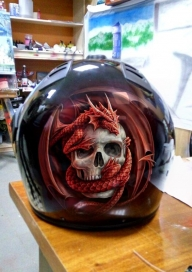 Helmet - Kustom Airbrush