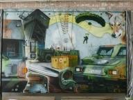 Arbeitsbeispiel-Wandgemälde Bundeswehr - Airbrush Artwork and Murals