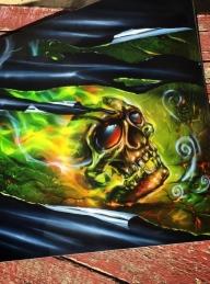 Bad ass #skull - Airbrush Artwoks