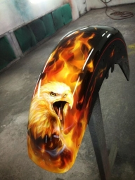 Flames and eagle - Kustom Airbrush