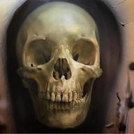 "Another @airoilandlead handmade: ""SKULL SHOT"" - Favorite Art"