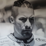 Nicky Hayden - Airbrush Art by Verino Iacovitti - Favorite Art
