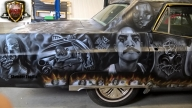 Chicano Art on Cadillac  - Airbrush Artwoks