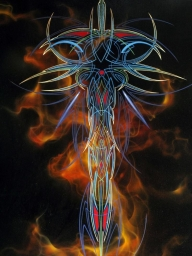 Flames and PS - Kustom Airbrush