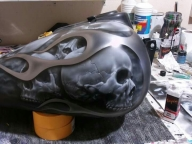 Skulls on tank - Airbrush Artwoks
