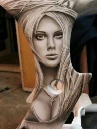 Airbrush portrait - Airbrush Artwoks