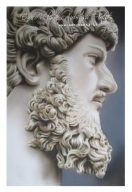 busto marmoreo di epoca romana, aerografia su cartoncino - Airbrush Artwoks