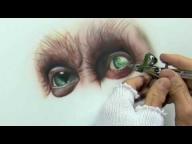 Video: #Airbrush Drawing  エアーブラシアート 生き物編 其の三 - Airbrush Videos