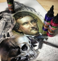 Really impressive #art - @airoilandlead - Top Airbrush Artwork on the Web