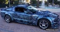 Details - #Skull on ford #Mustang GT 2008 - Kustom Airbrush