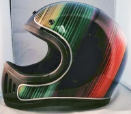 Spectro colors airbrush on helmet - Airbrush Artwoks