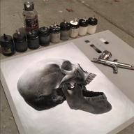 Photorealistic skull - airoilandlead.com/art.html - Fotorealismo