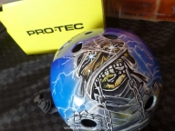 Custom Painted skate helmet - Iron Maiden. alisonarts.com.au - Airbrush Artwoks