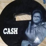 Custom pancake welding hood with Johnny Cash by ZimmerDesignZ.com  - Welding helmets