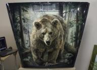 Bear on the Hood - 3 - Airbrush artwork by Art-Tehnika - Airbrush Step by Step