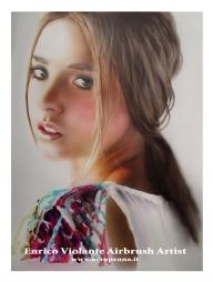 "airbrush portrait on""liquid paper""by Tecka Design - Airbrush Artwoks"