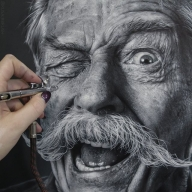 Airbrush portrait - Photorealism