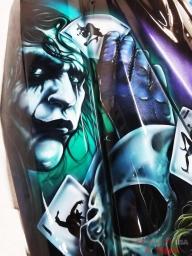 Joker Jet-ski Hood ⋆ Airbrush Art USA - Kustom Airbrush