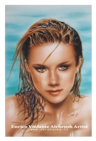 "acrilico su ""carta liquida"" (by Tecka Design) cm.35x50 - Airbrush Artwoks"