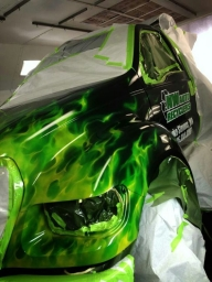 Green Real Flames - Kustom Airbrush